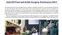Indo-US Foot & Ankle Surgery Conference 2014