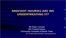 Midfoot Injuries-Are We Undertreating It ?